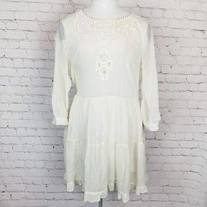 Free People|Cream Prairie Style Dress
